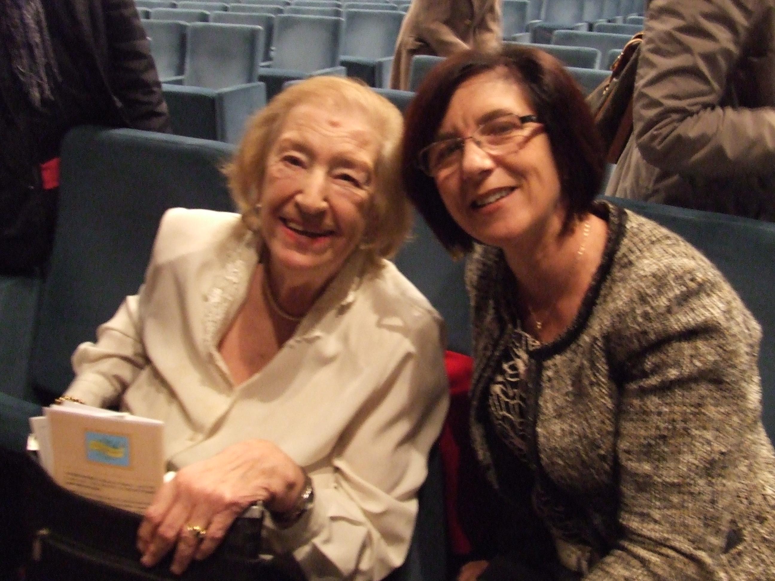 con Maria Luisa Spaziani, 2013 L'Aquila